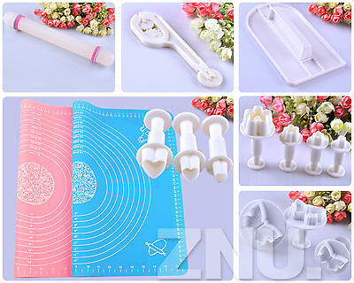 Various Fondant Cake Cookie Cutters Sugarcraft Plunger Mould Decorating DIY Tool