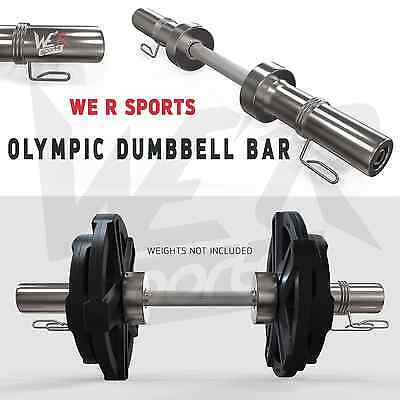"""2"""" Olympic Dumbbell Bar Set With Spring Collar Dumbbells Free Weights Training"""