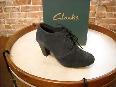 Clarks Navy Suede Sapphire Chloe Lace Up Oxford Pump New