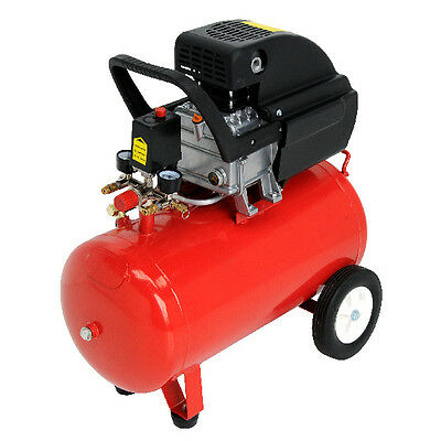50 Lit  2.5HP New Garage Electric Air Compressor 230V Mains Powered For AirTool