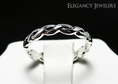 Adjustable .925 Sterling Silver Braided Rope Band Toe Ring