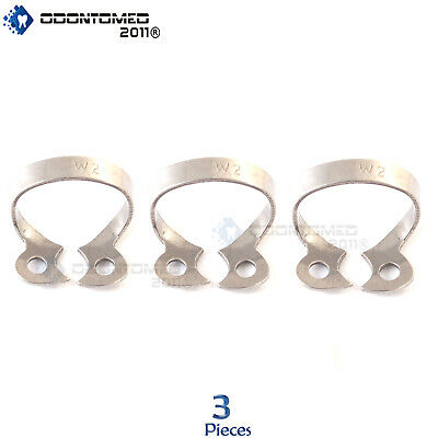 3 Endodontic Rubber Dam Clamp #W2 Surgical Dental Instruments