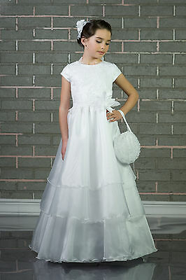 Wedding White / Ivory Flower Girl Bridesmaid Party Holly Communion Dress
