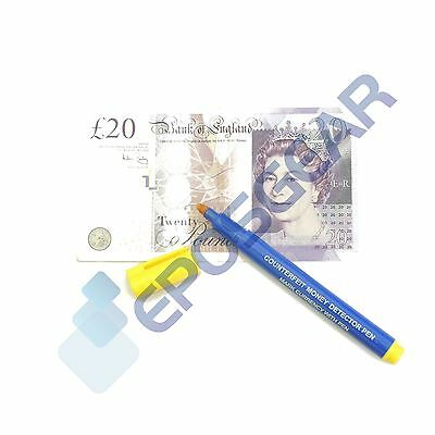 2 Counterfeit Fake Forged Money Bank Note Checker Detector Tester Marker Pens