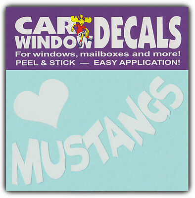 Car Window Decals: I Love Mustangs | Horses Riding | Stickers Cars Trucks Glass