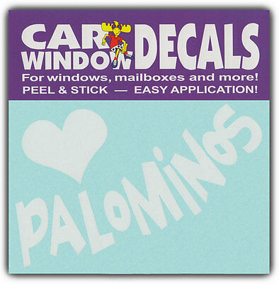 Car Window Decals: I Love Palominos   Horses Lover   Stickers Cars Trucks Glass