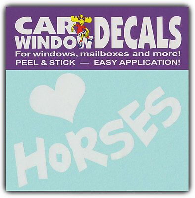 Car Window Decals: I Love Horses | Horse Lover | Stickers Cars Trucks Glass