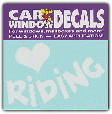 Car Window Decals: I Love Riding | Horses Horse Lover | Stickers Cars Trucks
