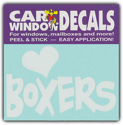 Car Window Decals: I Love Boxers   Dogs   Stickers Cars Trucks Glass