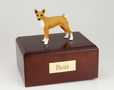 Basenji Pet Funeral Cremation Urn Available in 3 Different Colors & 4 Sizes