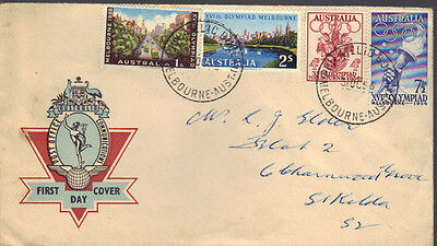 AUSTRALIA 1956 OLYMPIC GAMES First Day Cover Melbourne cds REF: NC16
