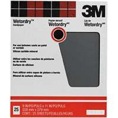 New 3M 99422 Pro Pack (25) Sheets 9X11 Wet Or Dry 220A Grit Sandpaper 6086615