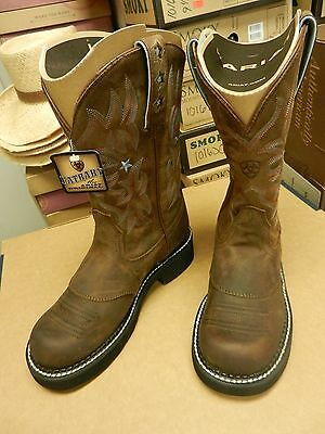 Ariat Probaby Fatbaby Brown Boots ATS Technology Women's Rubber Soles Work Stars