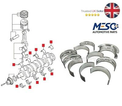 Crankshaft Main Bearing Shell Set Ford Mondeo Transit Mk6 Mk7 2.0 2.2 2.4 Tdci