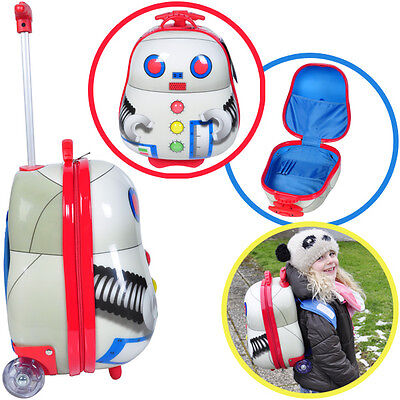 Knorrtoys Rolly-Trolley Kinderkoffer Roboter Silber Kindertrolley Koffer Kinder