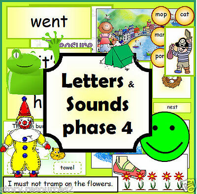LETTERS AND SOUNDS CD  PHASE 4 Primary teaching resources KS1 EYFS Resource cd