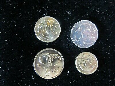 """4 - DIFFERENT GENUINE COINS FROM CYPRUS """"Proof-Like"""""""