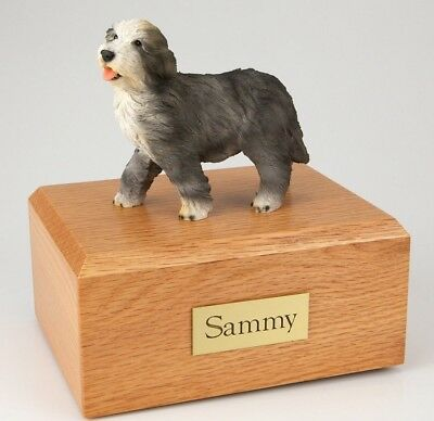 Bearded Collie Pet Funeral Cremation Urn Avail in 3 Different Colors & 4 Sizes