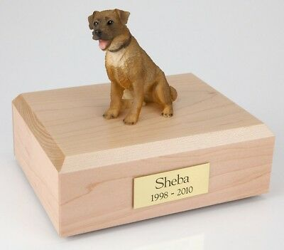 Border Terrier Pet Funeral Cremation Urn Avail in 3 Different Colors & 4 Sizes