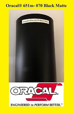 "12"" x 10 FT Roll Black Matte Oracal 651  Vinyl Adhesive Cutter Plotter Sign 070"