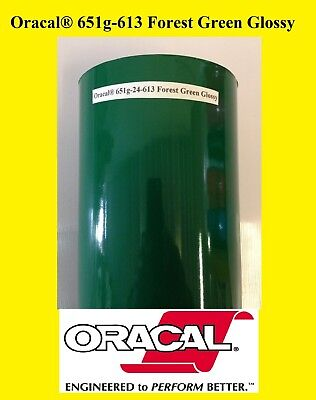 "12"" x 10 FT Forest Green  Glossy Oracal 651 Vinyl Adhesive  Plotter Sign 613"
