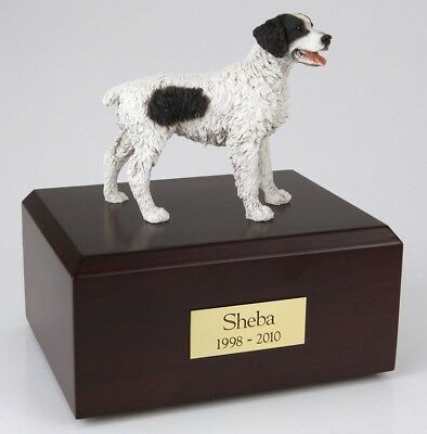 Brittany Black Pet Funeral Cremation Urn Available in 3 Diff Colors & 4 Sizes