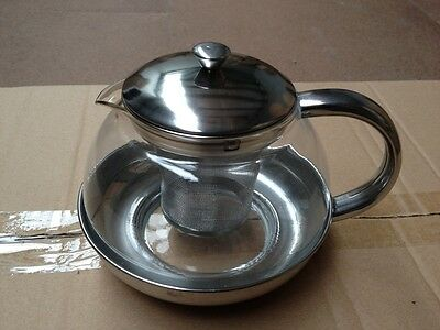 Glass Teapot with Stainless Steel Strainer - 1000ml