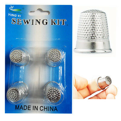 4 Fingers Metal Shield Thimble Sewing Grip Finger Protector Pin Needle Quilting