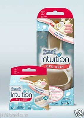 Wilkinson Sword Intuition  Dry Skin Razor And 1 x 3 Pack Of Replacement Blades