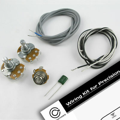 P Style Bass Wiring Kit. Poly capacitor, Alpha pots WK18