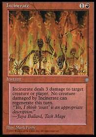 Incinerate - Incenerire 1x carte Magic Ice Age (ENG)