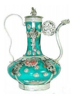 Chinese Tibet porcelain carved Collection teapot