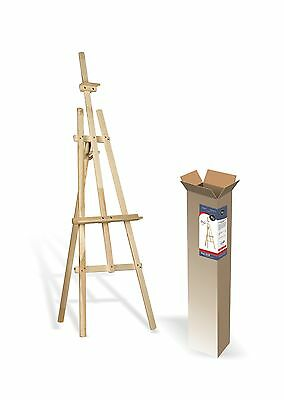 STUDIO EASEL (1500MM HIGH) ARTIST ART CRAFT DISPLAY Wooden - For Self-Assembly