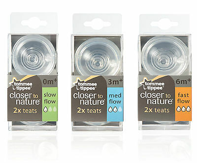 Tommee Tippee Closer To Nature Easi-Vent Flow Bottle Teats - All Sizes Available