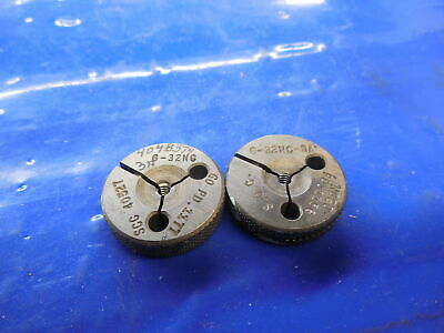 6 32 Nc 3A Thread Ring Gages Go No Go #6 P.d. = .1177 & .1156 Toolmaker Tooling