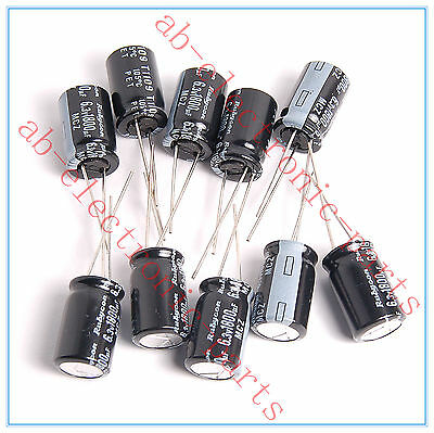 8pcs- 1800uf 6.3v Radial Electrolytic Capacitors 6.3v1800uf  NCC KZG Low ESR