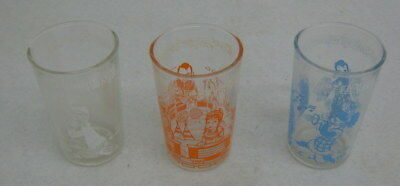 3-1953 Welch's Howdy Doody Glasses All Different Scenes