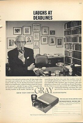 1960 Gray Audograph Portable Dictation System PRINT AD