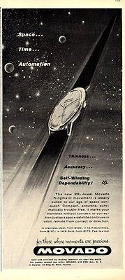 "1960 Movado Kingmatic ""Space...Time...Automation""  PRINT AD"