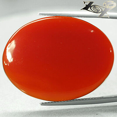 23.95 CT.Natural Oval 25*33 mm. Sunset Red Orange Africa Carnelian Agate 瑪瑙
