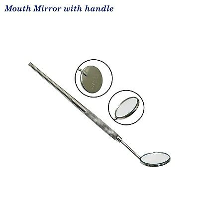 Dental # 4 plane mouth mirror with Handle , Dental Mouth mirror with Handle #5