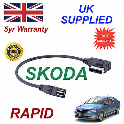 SKODA RAPID MMI AZO800002 UF6 USB MEDIA IN  car Cable replacement
