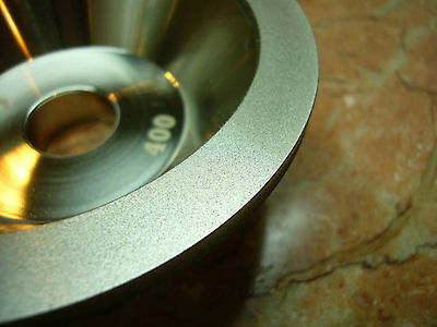 "4"" inch 100mm THK Diamond coated CONCAVE Grit 400 grinding wheel bench grinder"