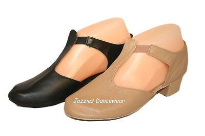Tan or Black T-Bar, Grecian Dance Sandals, Lyrical Shoes NEW Sizes US3-US14