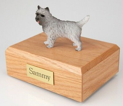 Gray Cairn Terrier Pet Funeral Cremation Urn Avail in 3 Diff Colors & 4 Sizes