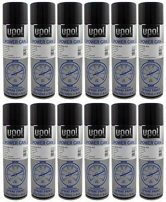 U-pol Power Can GLOSS BLACK 500ml Paint Aerosol Upol x 12 Upol Powercan PCGB