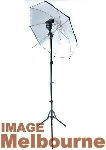 Strobist kit Light stand, flash bracket, 110cm white umbrella shoot through thru