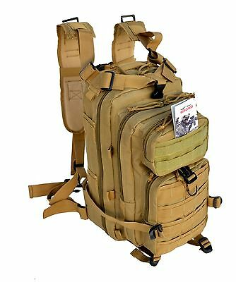 **New** Tactical Military Style Assault Backpack Police Swat w/Molle Coyote Tan