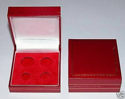Red Padded Coin Cases To Hold Sovereign's, 1/2 Sovereigns, Crowns, Maundy etc