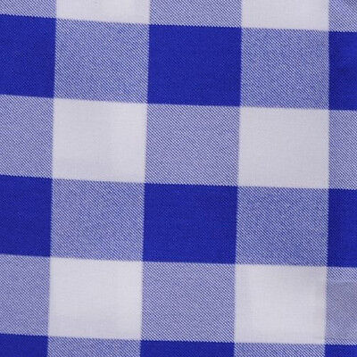 "ROYAL BLUE & WHITE CHECKERED TABLE RUNNER - 13"" x 120"" - CHECKER TABLE RUNNERS"